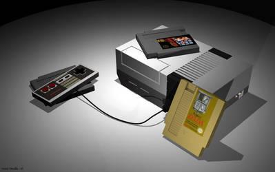 NES with Zelda by ValentineXXX