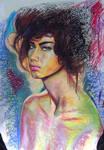 Adriana in oil Pastel