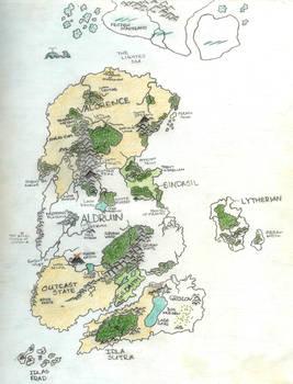The Four Kingdoms Map