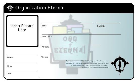 Organization Eternal ID Card by LordKnightXiron