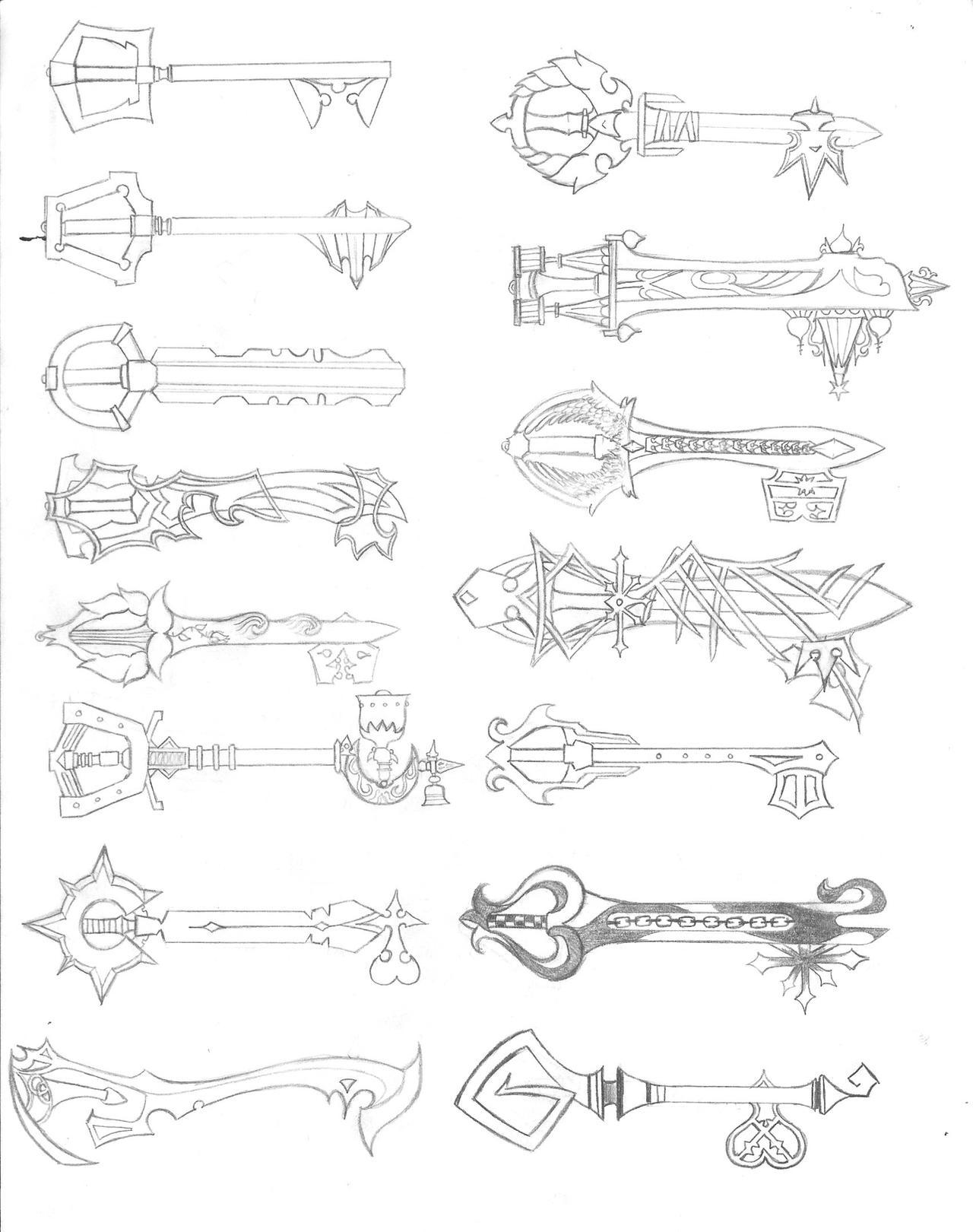 Keyblade Designs by LordKnightXiron on DeviantArt