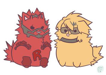 KiriKami Puppies by ChibiChibiSha