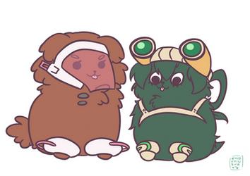 UraTsuyu Puppies by ChibiChibiSha
