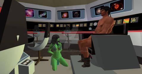 Orion Slave Girl on Enterprise