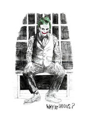 Joker by pencil and kid