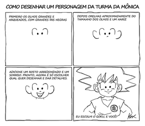 Como desenhar: Turma da Monica