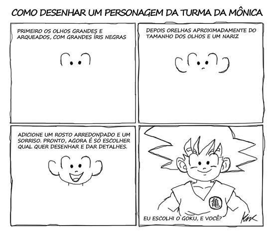 Como desenhar: Turma da Monica by Tashimi