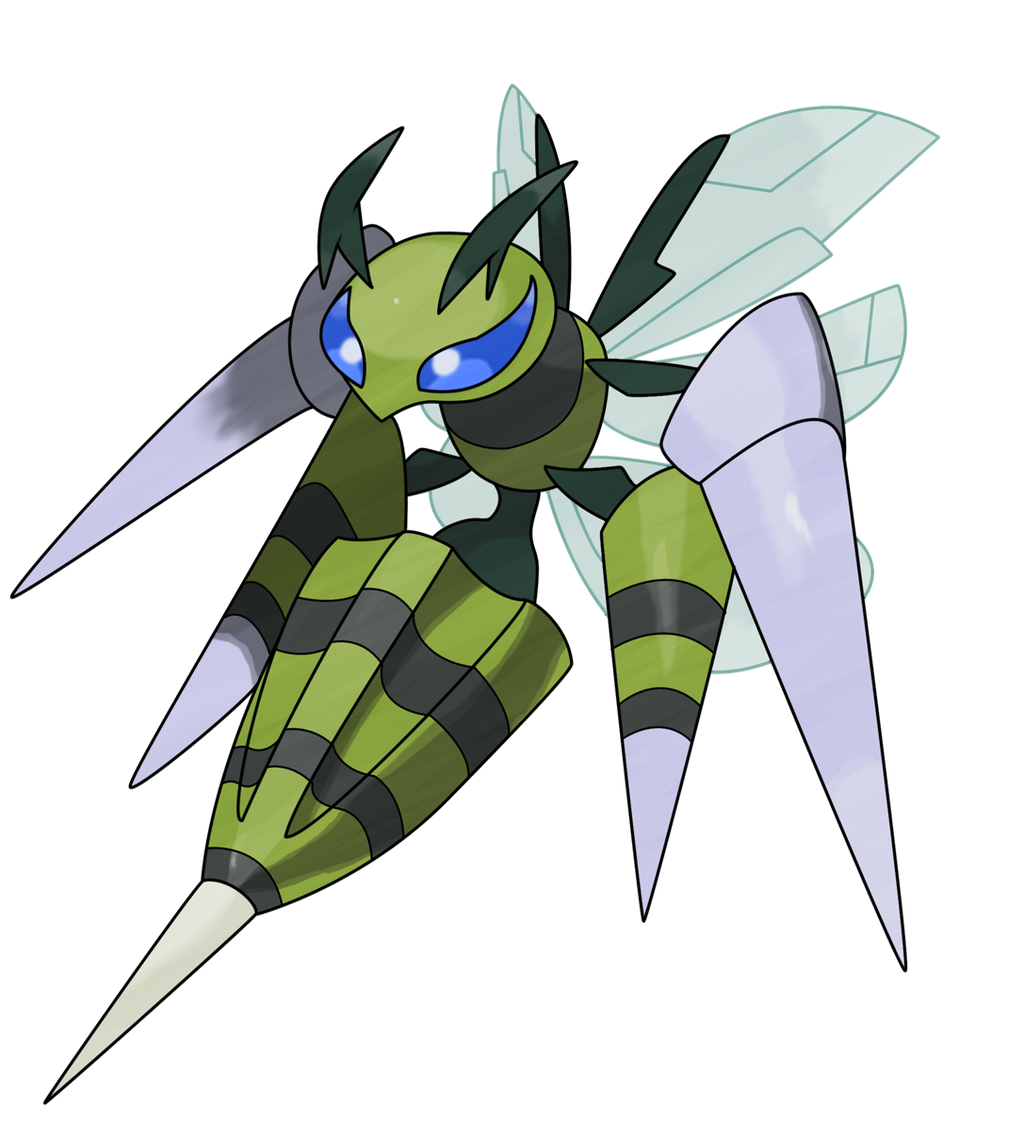 Mega Beedrill shiny by Gyarados10 on DeviantArt
