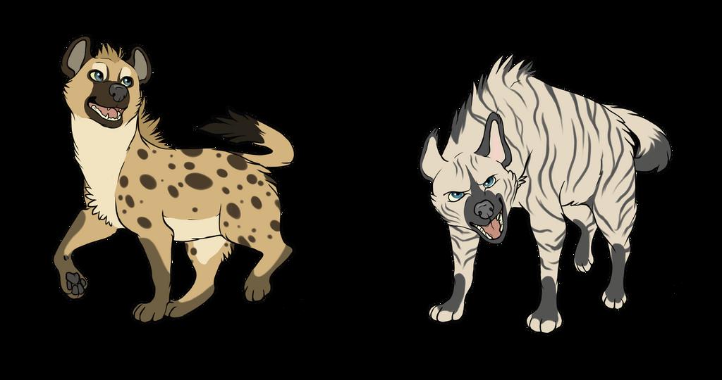 Hyenas~ by RoxiBeFox