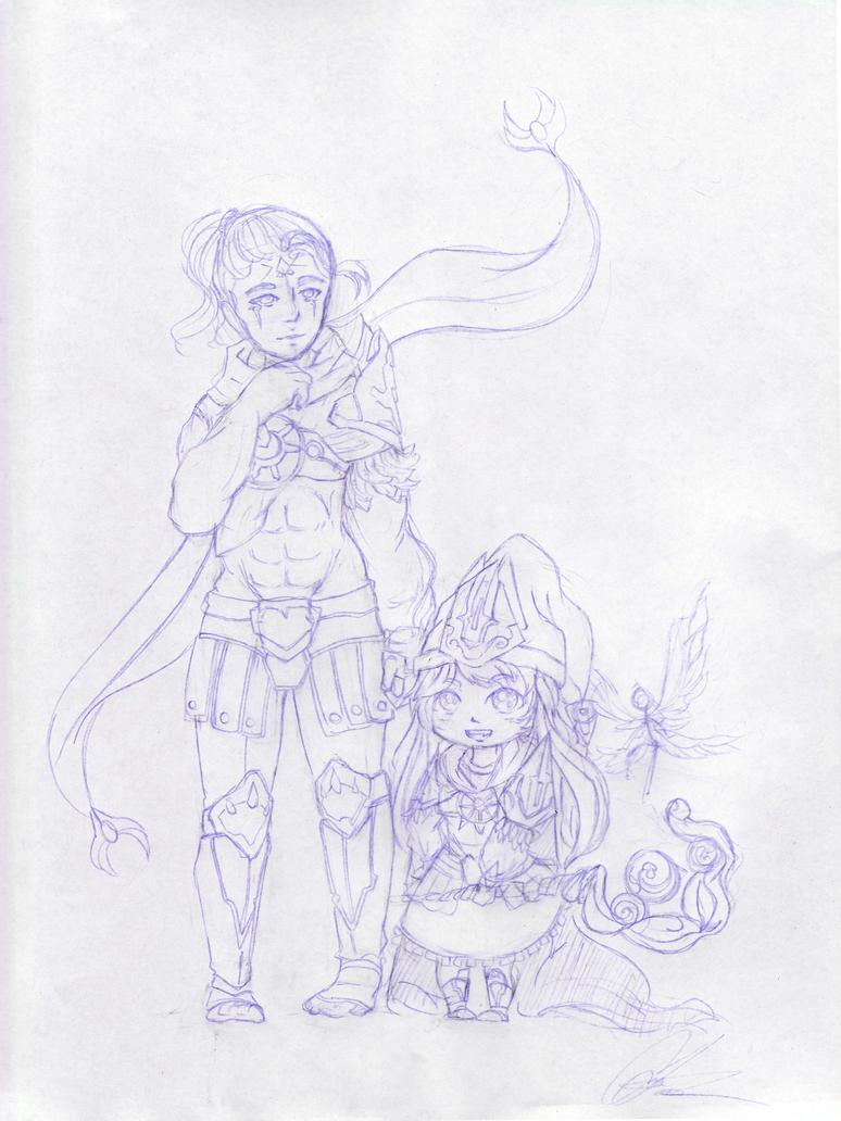 League of Legends Fanart- Arclight Varus and Lulu by Cmcookiez