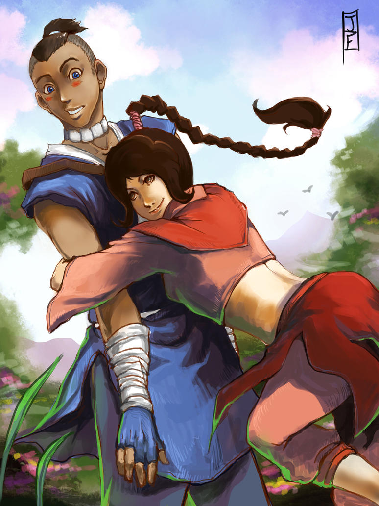 http://pre02.deviantart.net/43fa/th/pre/i/2012/316/9/6/chi_blocked_sokka_and_ty_lee_fan_art_commission_by_anireal-d5ktvkm.jpg