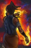 Korra Flame by anireal