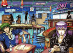 Spike and Motoko Jazz Scene Commission Color