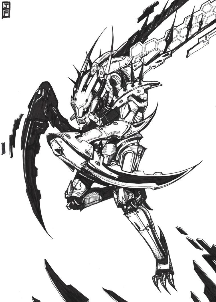 Mecha Kha'Zix League of Legends Fanart by anireal