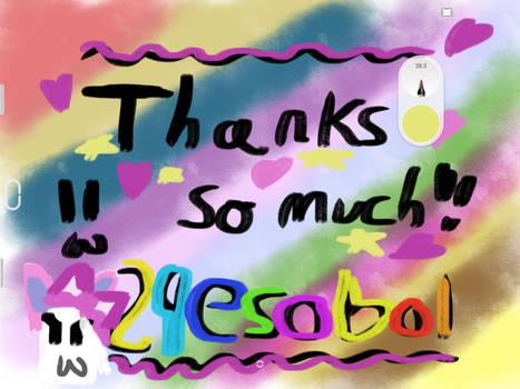 Thanks! Thanks! 29esobol is GREAT!