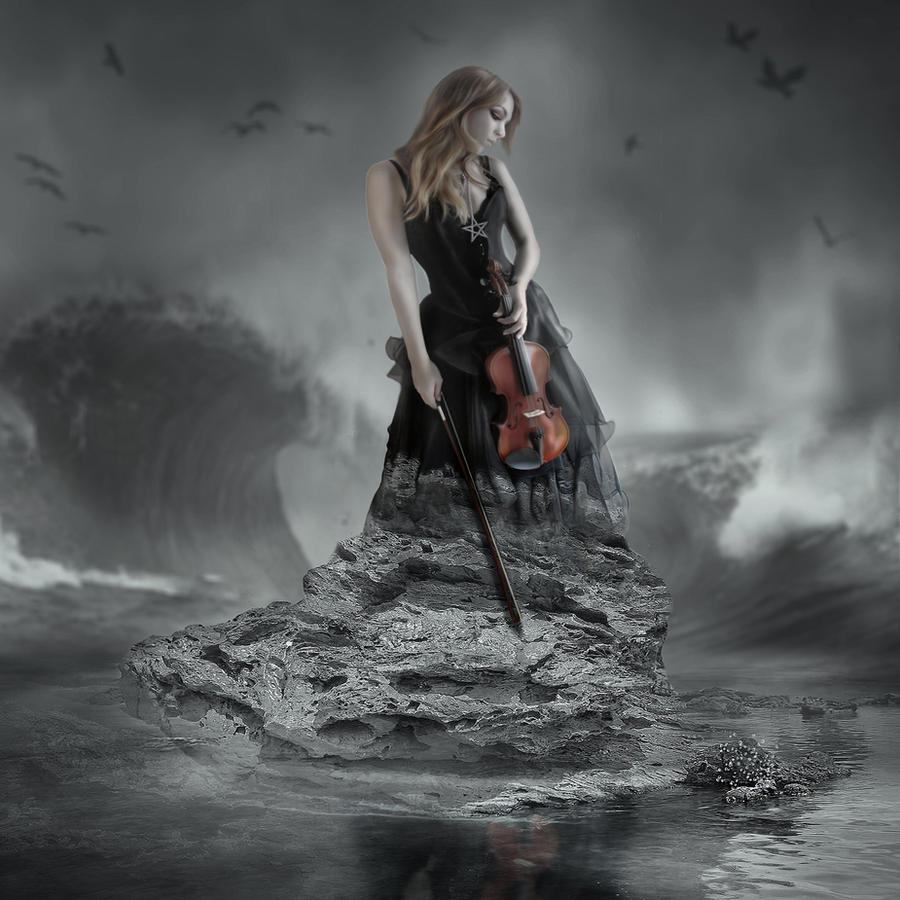Violin Wallpaper: Lady With A Violin By TearsOfTheAmaranth On DeviantArt