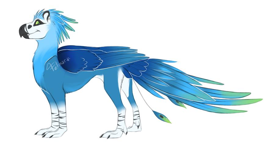 Griffin/dragon adopt by Felinar by Soaringeagle78