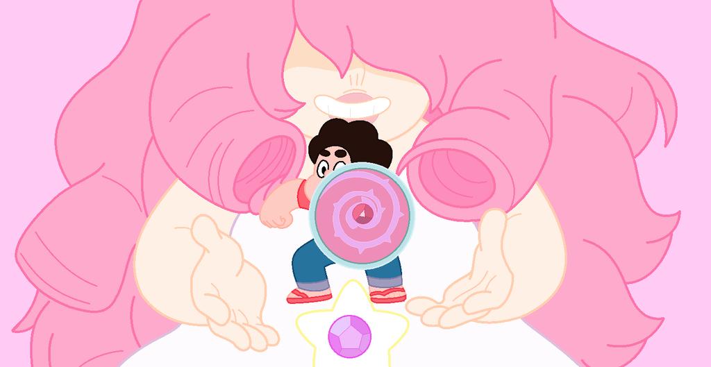 Steven universe rose and steven background by iamsheila - Rose quartz steven universe wallpaper ...