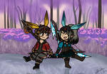 (COMMISSION) FFXIV - Siblings by the Lakeside