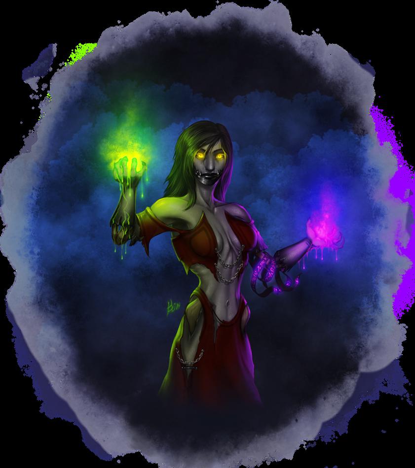 Rasalka Wraithsong, Undead Warlock by Khiralas
