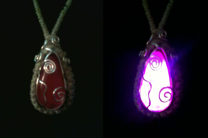 Glowing Crystal Necklace - Rose by Khiralas