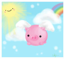 when pigs fly by amidot