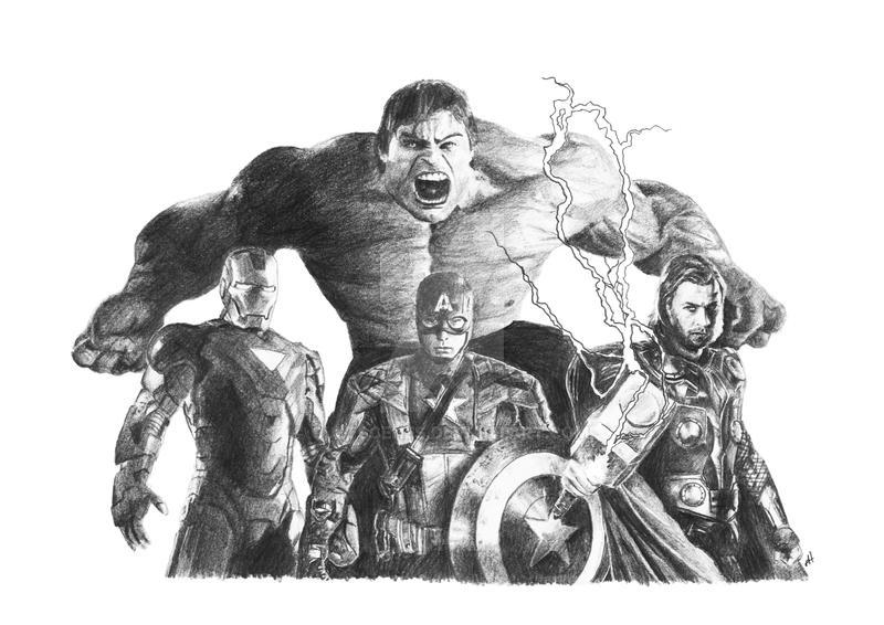 Marvel AVENGERS Original DRAWING by Cultscenes on DeviantArt  Marvel AVENGERS...