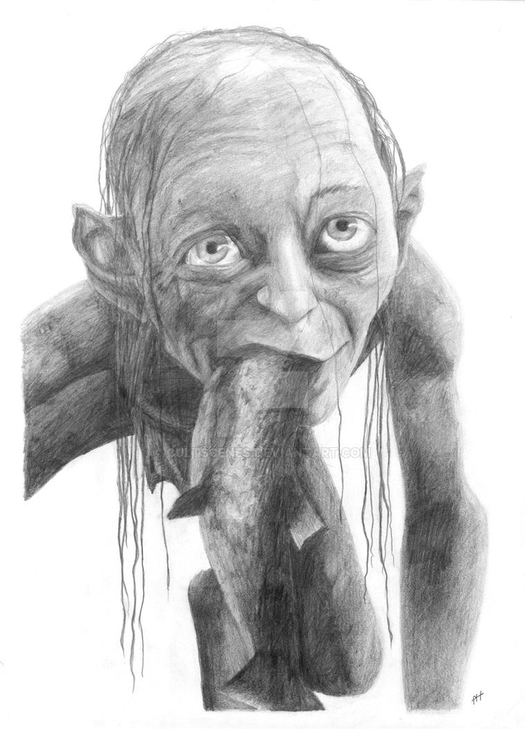 LORD OF THE RINGS GOLLUM SMEAGOL DRAWING by Cultscenes on ... Orlando Bloom Split