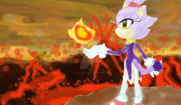 blaze the cat, fire by adrianarosabell