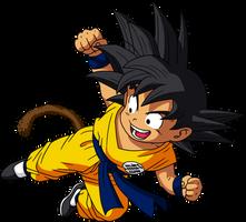 Dragon Ball - kid Goku 18 - Dragon Box by superjmanplay2