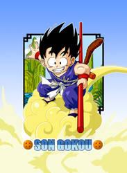 Dragon Ball - Son Goku from Gumi card by superjmanplay2