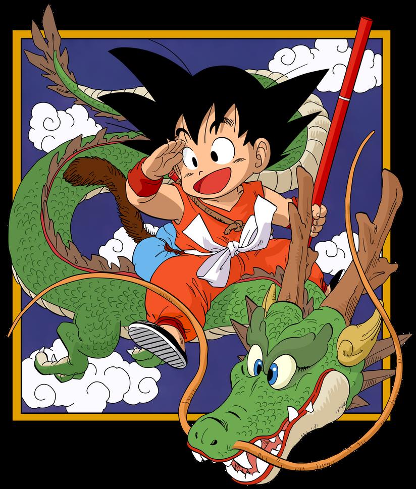 Dragon Ball - kid Goku and Shenlong - Manga vol.1 by superjmanplay2