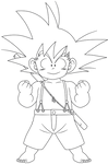 Dragon Ball - Kid Goku 45 - lineart by superjmanplay2