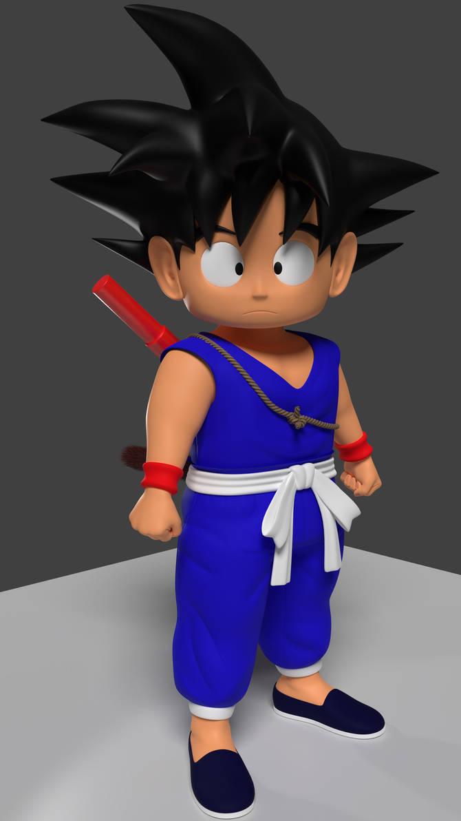 Son Goku angry.