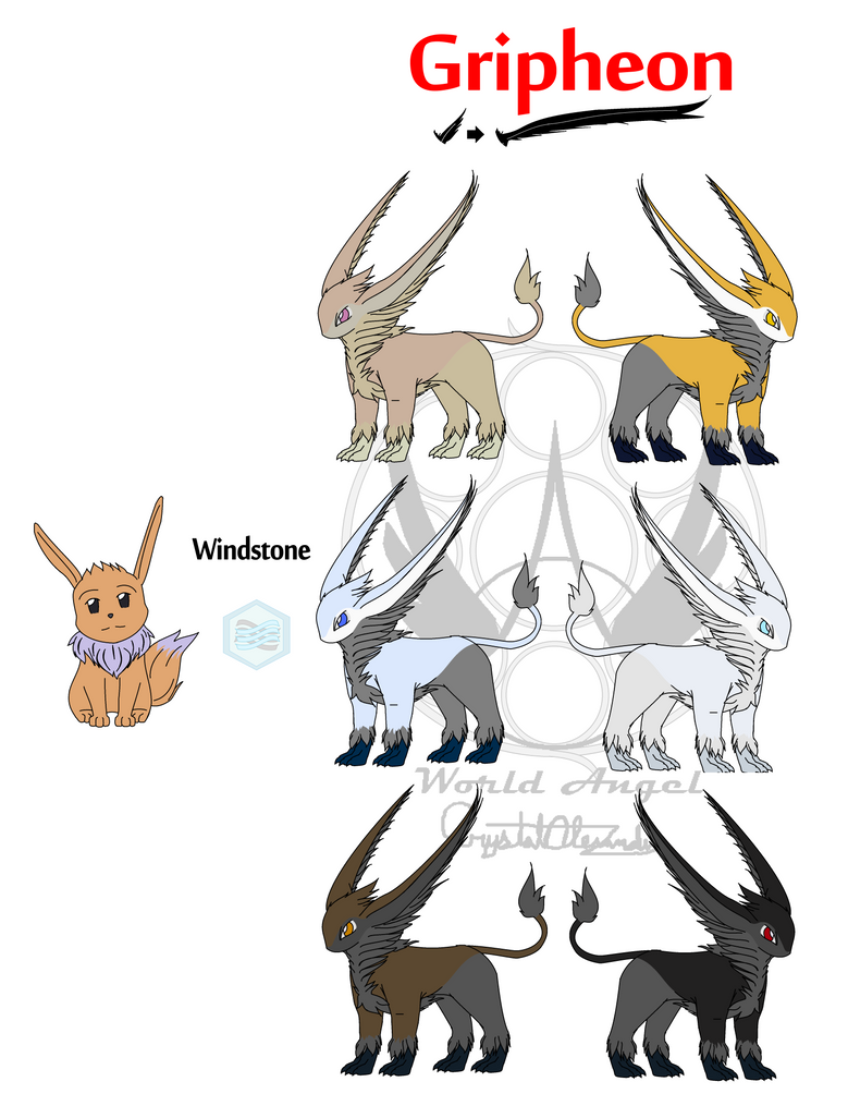 Eevee's EVOL Flying Form Gripheon's color palitte by WorldAngel