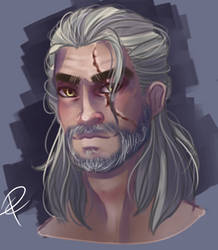 Geralt of Rivia (Art trade)