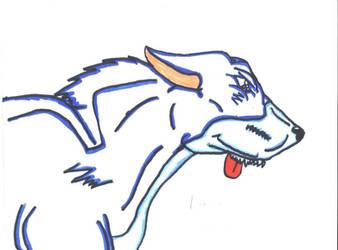rennigon the wolfdog by foxfirefire