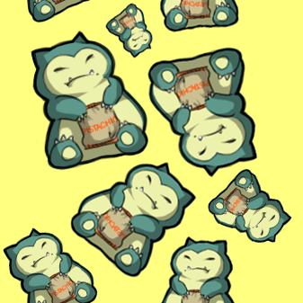 snorlax n pistachios by umbrella-child