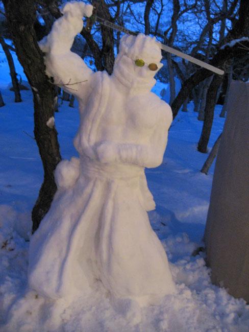 Snow Scupture Auron: FFX by auronlu