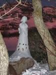 FFX -- Yuna Snow Sculpture