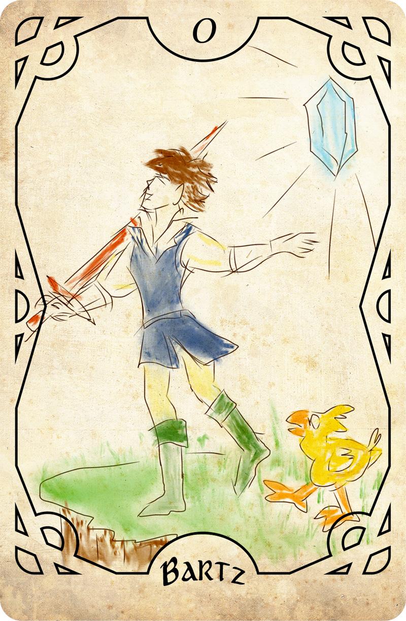 Final Fantasy Tarot - The Fool (Bartz)