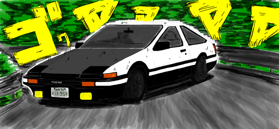 Initial d ae86 grafitti by ryuzo13 on deviantart - Ae86 initial d wallpaper ...