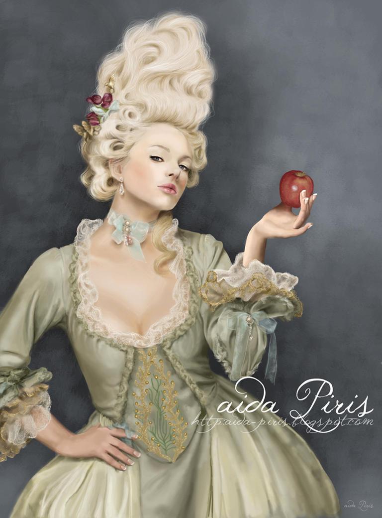 Variations sur le portrait à la rose Marie_antoinette_by_seleneprincess-d4xty8l