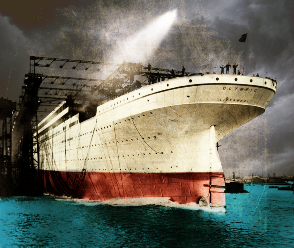 Rms Olympic: 104 Years Today RMS Olympic Was Launched By RMS-OLYMPIC On