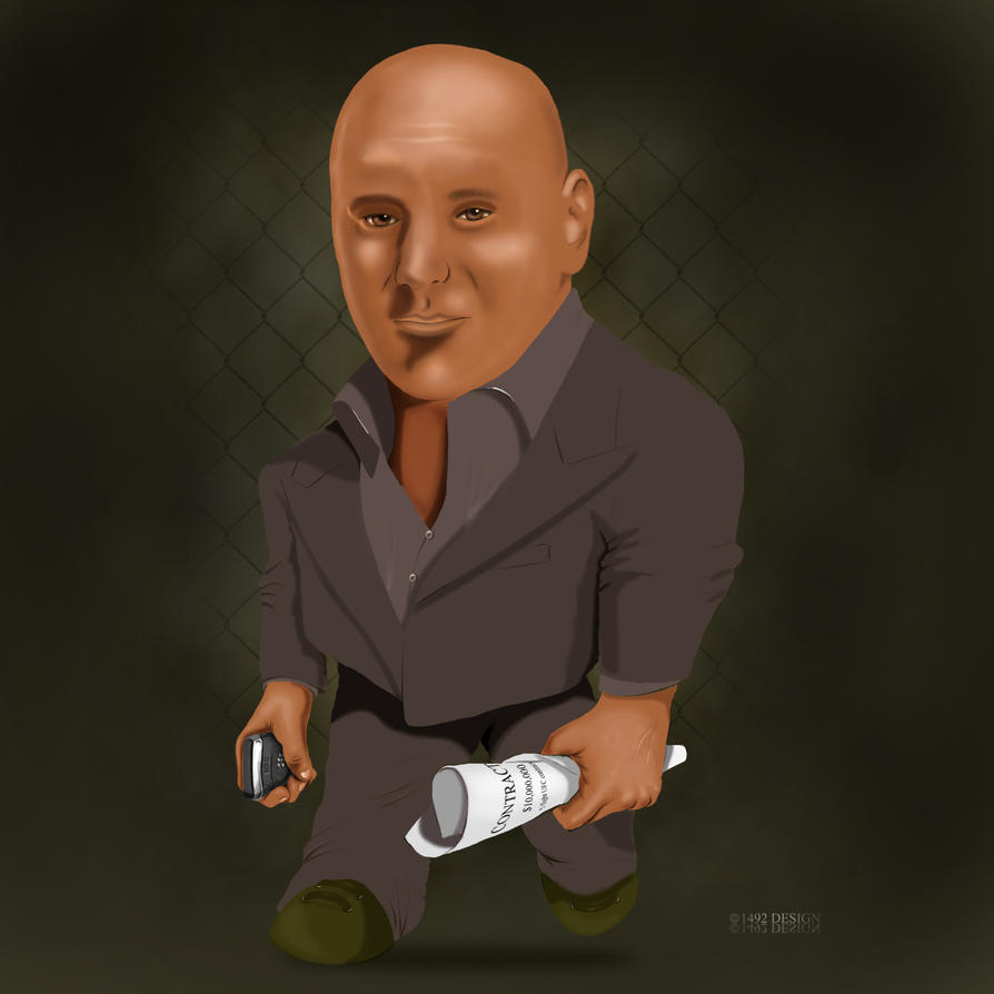 CARICATURE OF DANA WHITE by 1492ANDIBLAIR