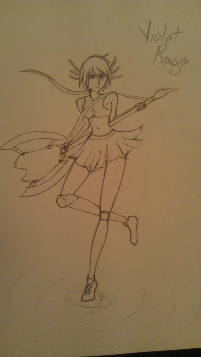 Violet Rage Sketch by Naomibatchi