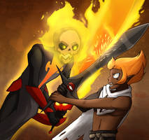 [Wakfu S3 Spoilers] Iop Vs. Iop by Tears-of-Xion