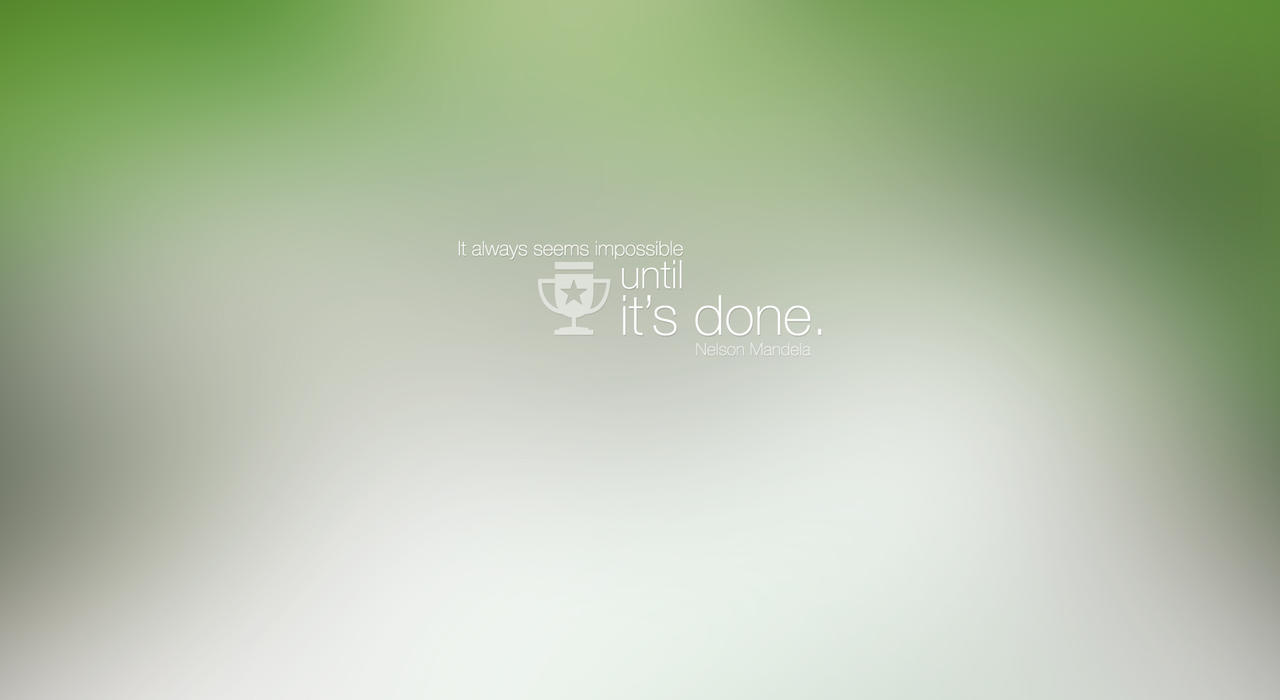 minimalist wallpaper with inspirational quote by dexter19