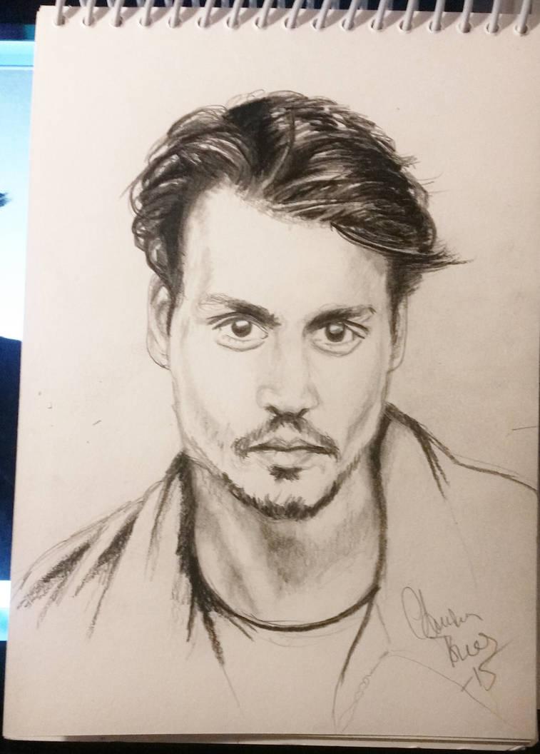 Johnny depp sketch by tonez1 on deviantart