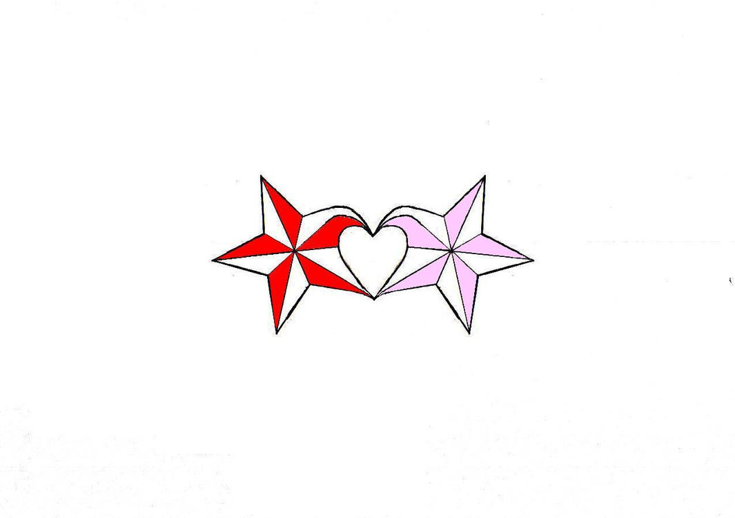 nautical star heart by FallenAwry